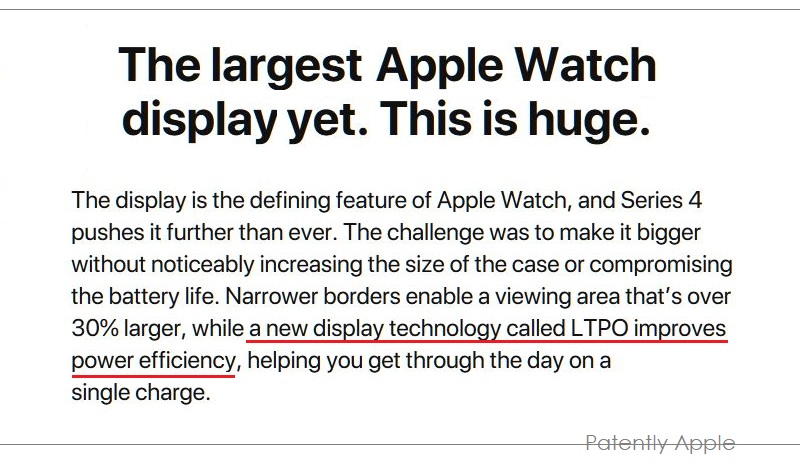 2 X Apple Watch 4 Display based on LTPO Technology