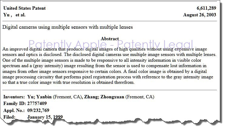 2 X apple sued for patent infringing this patent