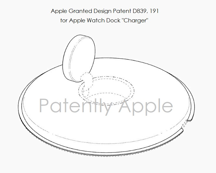 4 X Apple Watch charging Dock design patent Jan 29  2019