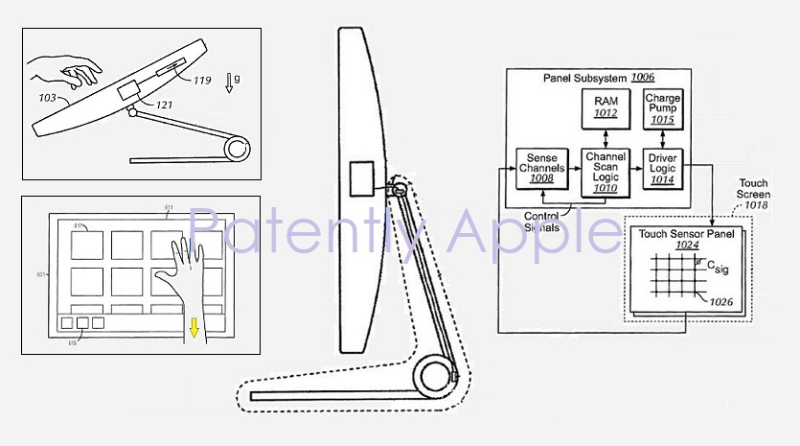 1 Cover Continuation patent of iMac Touch patent