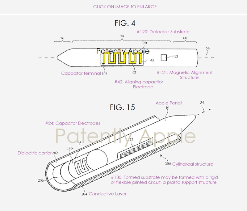 4 Apple figs for Apple Pencil wireless charging for 2018