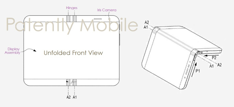 1 cover Samsung folding phone patent nov 2018 Patently Mobile report