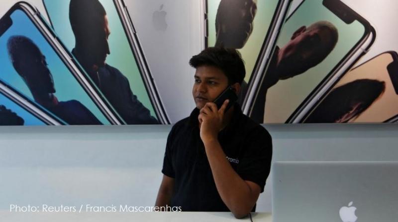 1 X iPhones in India  reuters photo