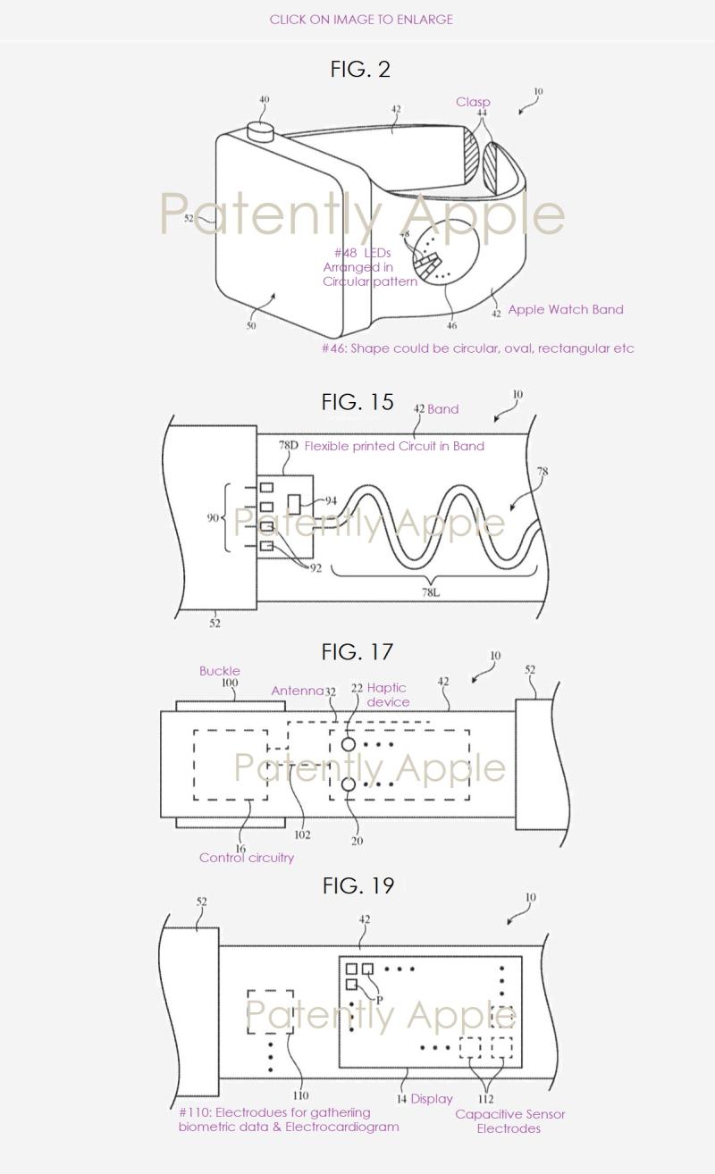 2 Apple Watch EU patent multiple patent figures  Nov 2018  Patently Apple report