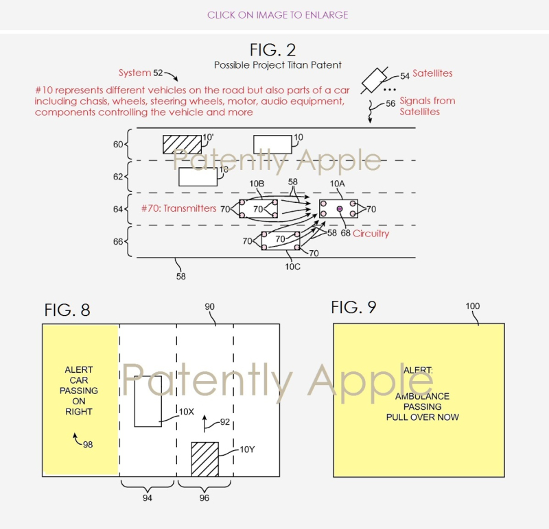 3 X Apple  Project Titan patent granted feb 12  2019
