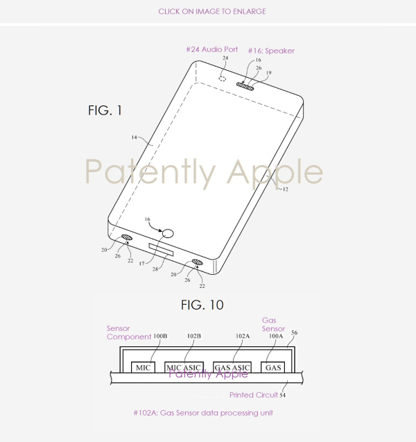 Apple granted their Fifth Patent on Integrating Gas and other Environmental Sensors into Future iDevices and Macs