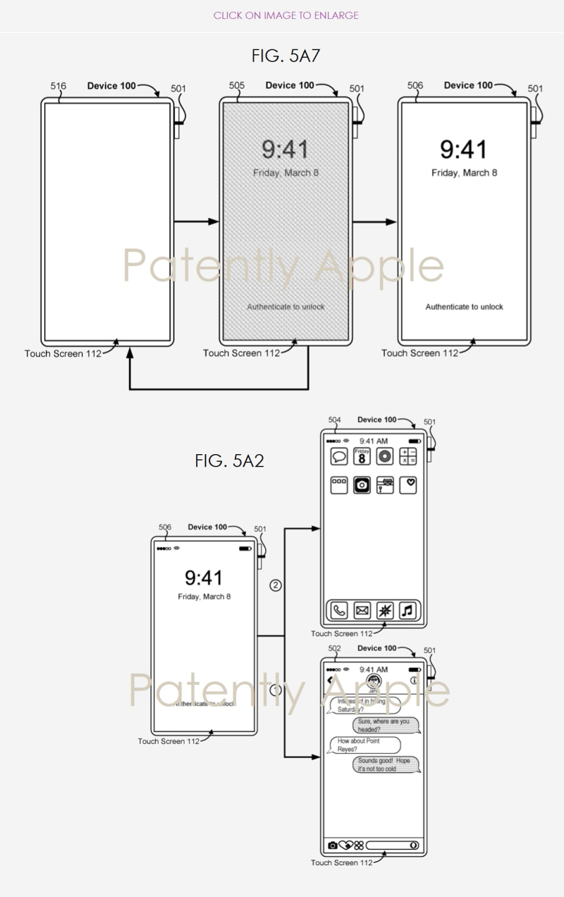 2 - Apple's iPhone X GUI patent figs dec 2  2018 Patently Apple report - Copy