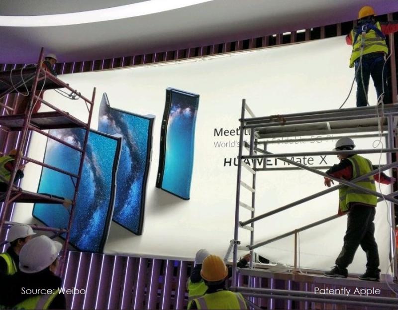 2 X Huawei billboard Mate X folding phone