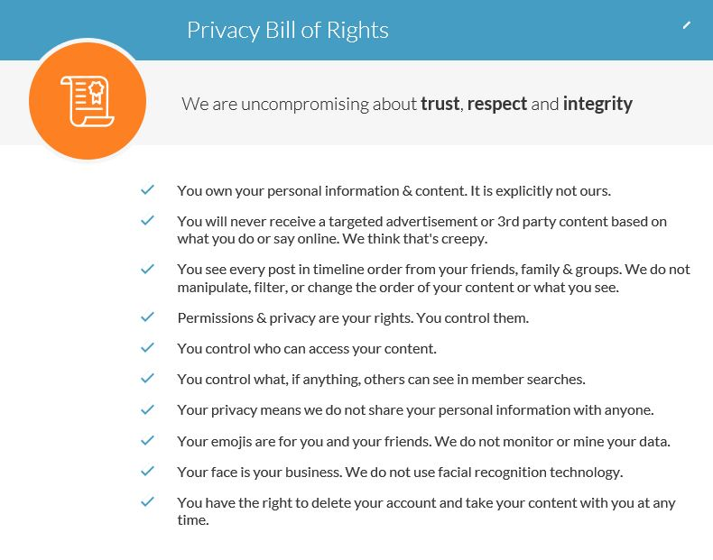 2 x Privacy Bill of Rights