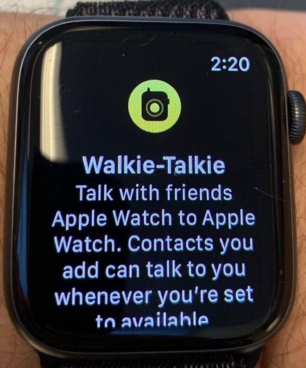 4 - APPLE SPECIMEN FOR WALKIE TALKIE ICON FOR APPLE WATCH