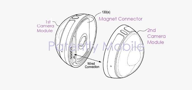 1 Cover Samsung 360 degree camera as attachable smartphone camera accessory