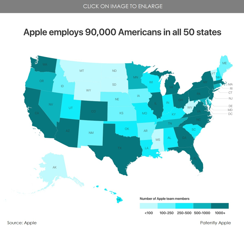 3 Apple employment chart