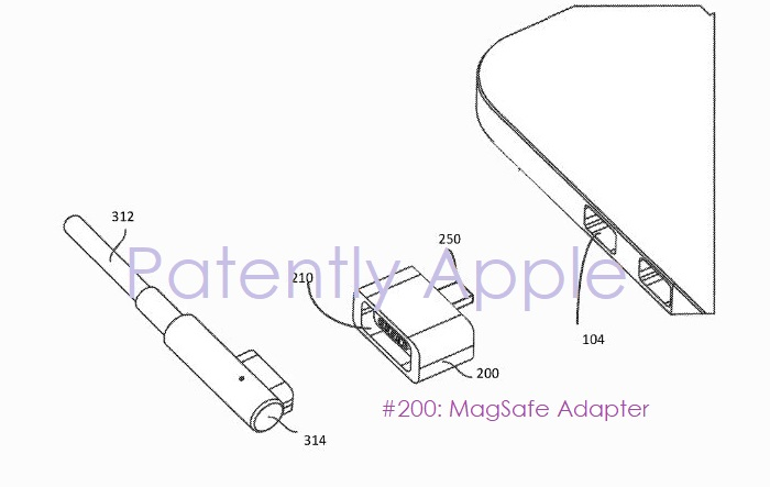 1 x cover magesafe adapter image apple patent figure