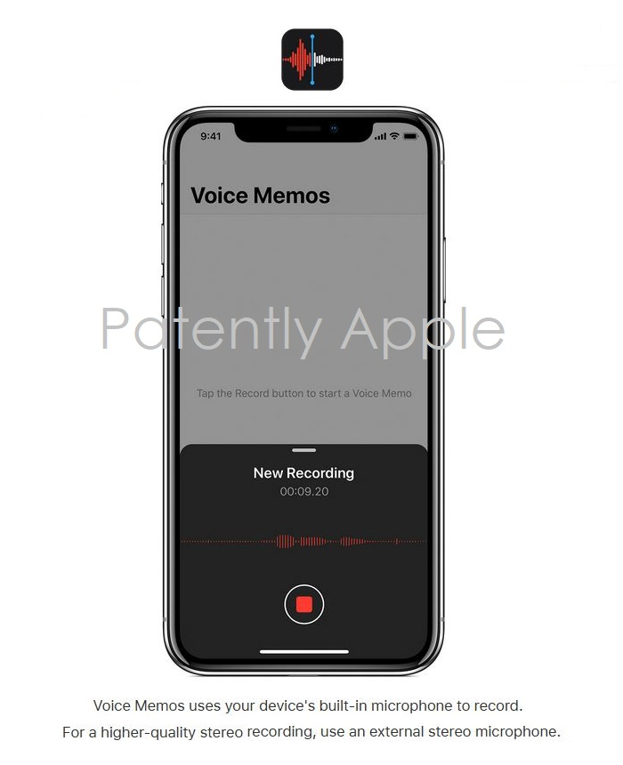 2 X - Apple voice memo icon  Apple files for TM