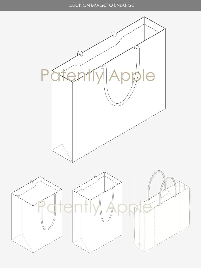 3 design patent apple store bags