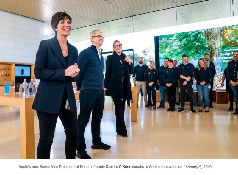 2 X Deirdre to take over Apple Retail in April 2019