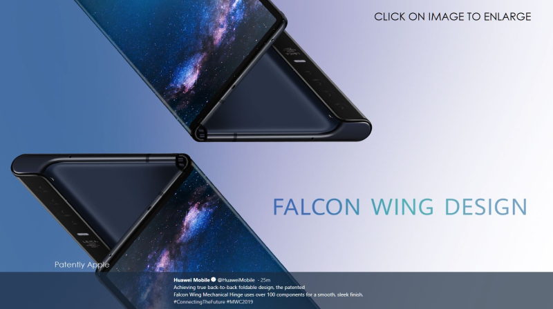 2 Huawei foldable Mate X