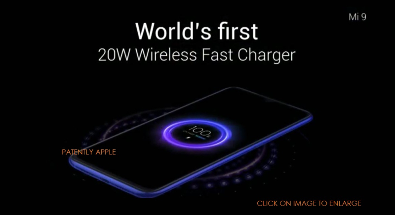 9 XIAOMI WORLD'S FIRST 20W WIRELESS CHARGER