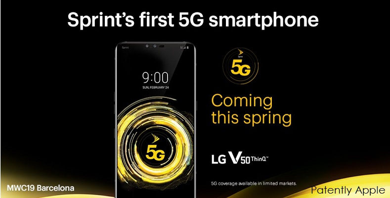 1 X cover LG + SPRINT 5G IN H1 2019