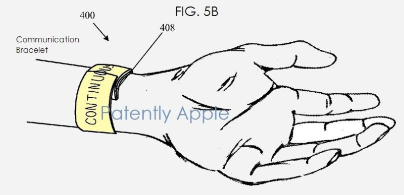 4 apple watch first patent on watch continuous band