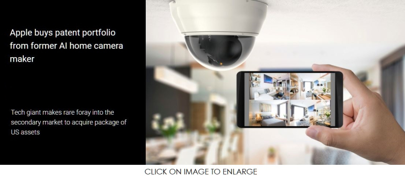 1 X apple acquires 3d home camera patents report