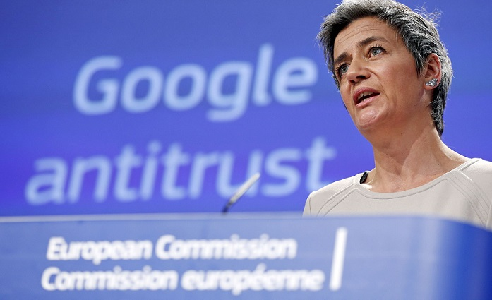 1 X cover EU commissioner on antitrust Google