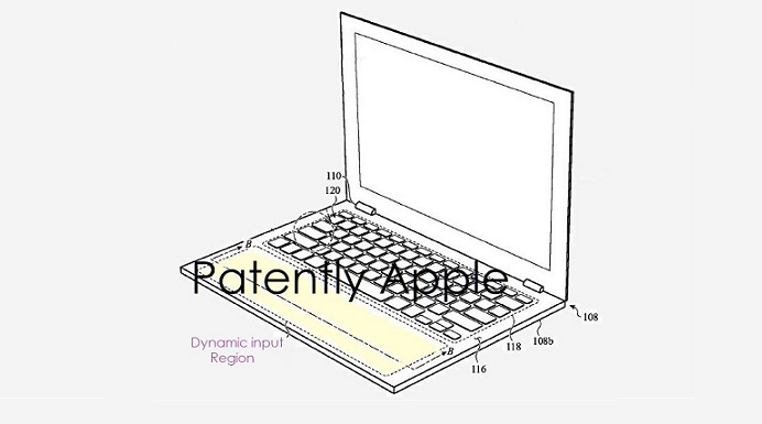 1 x cover Macbook with dynamic area or virtual trackpad
