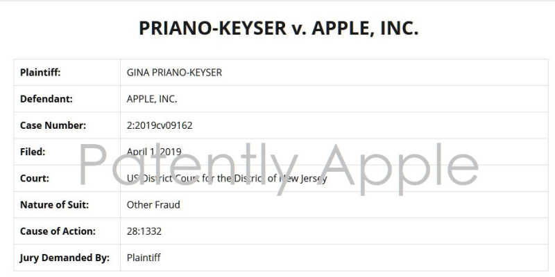 2 case Priano-Keyser v. Apple
