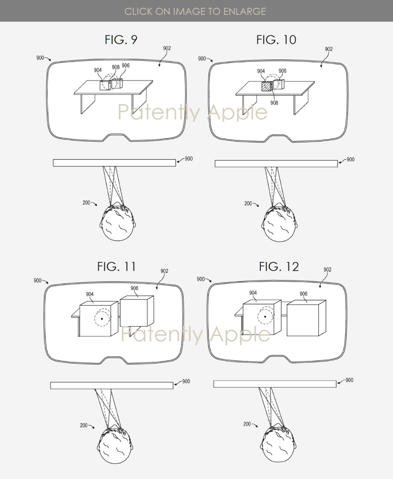3 Apple patent figs 9  10  11 & 12  HMD gaze controls  Patently Apple IP report Apr 8  2019