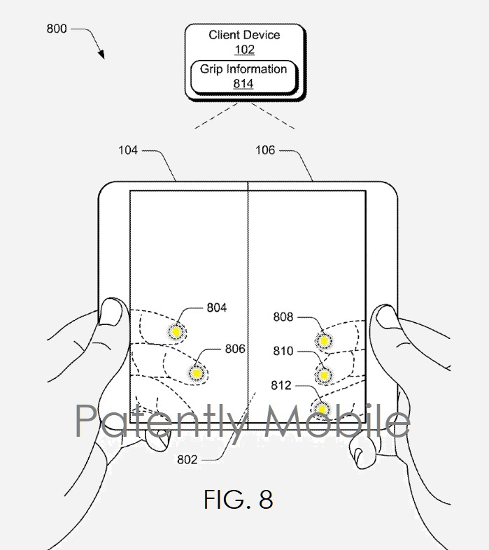 1 Extra  FIG. 8   multimodal  Microsoft patent  Patently Mobile IP report Apr 12  2019