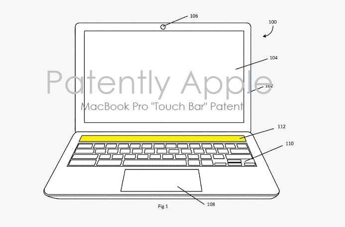 2 x Apple MacBook Pro Touch Bar wins patent