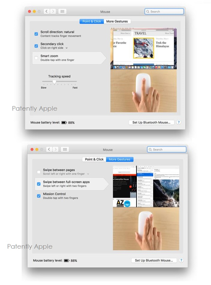2 X gesture interface for Magic Mouse  More Gestures