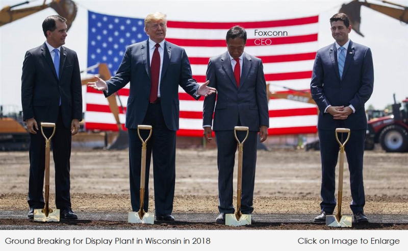 1 X Cover Ground breaking event with Foxconn CEO  Trump and others in 2018