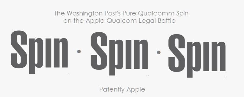 1 X Washington Post's SPIN on Apple Qualcomm case