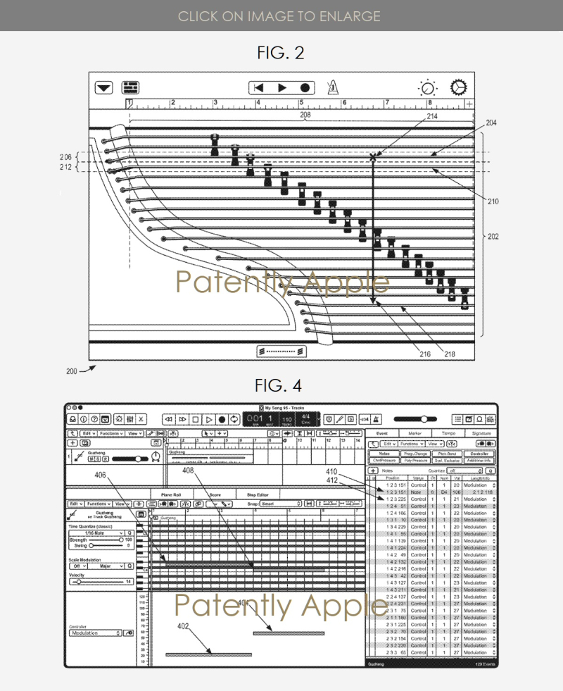 2 X Garageband patent cover virtual instrument Guzhend