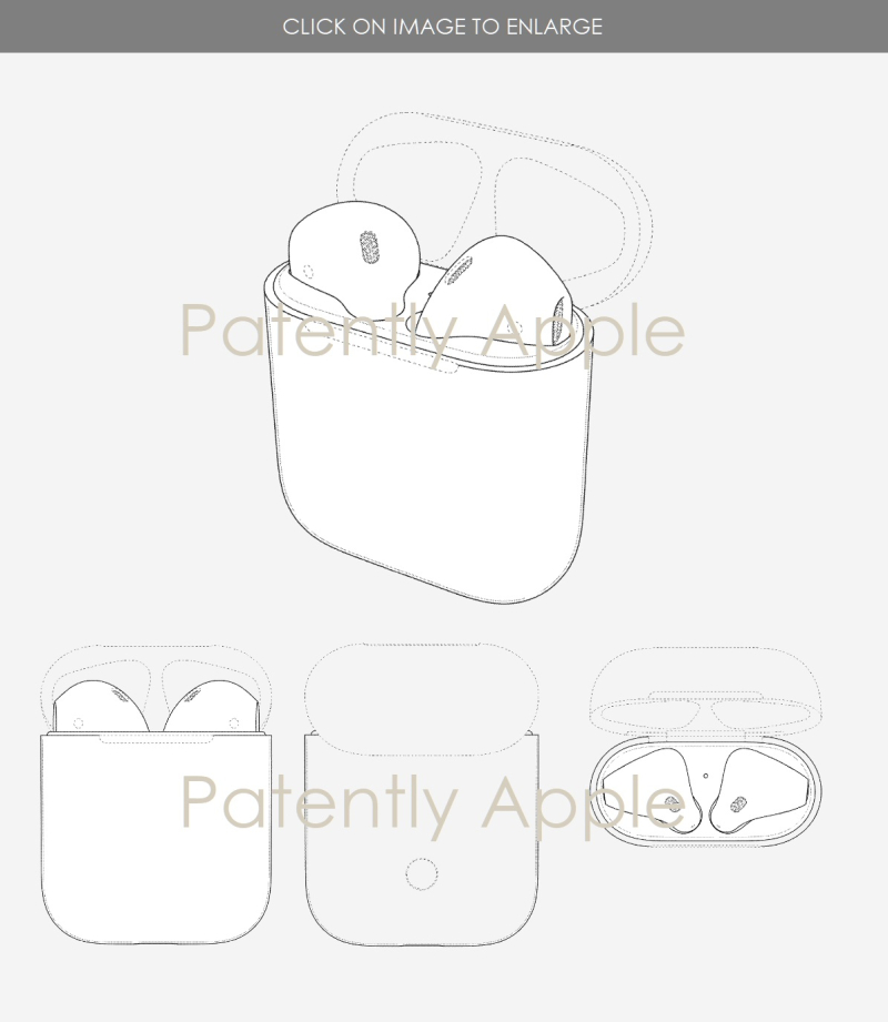4 Apple design patent for AirPods case