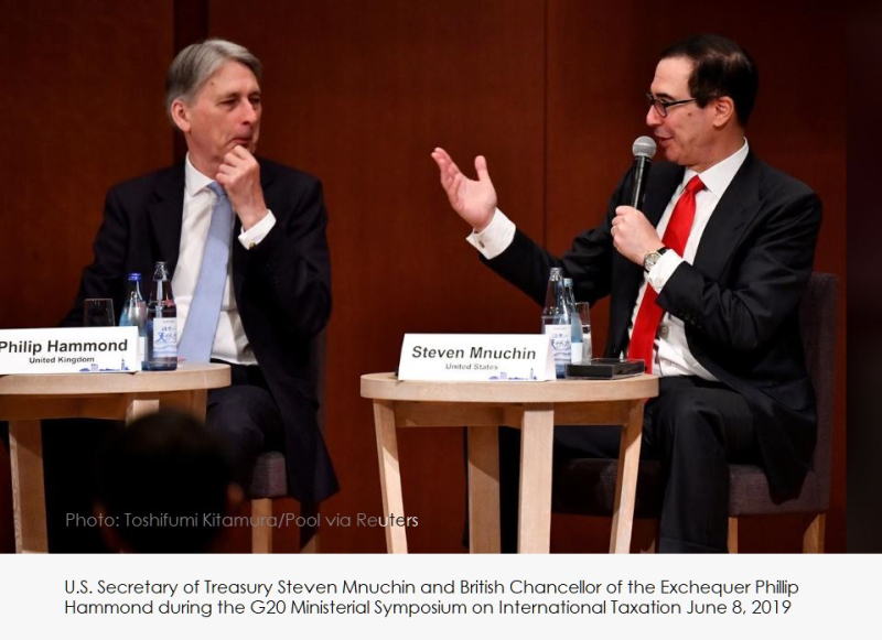 3 x Mnuchin & Hammond G20 on International Taxation June 8  2019