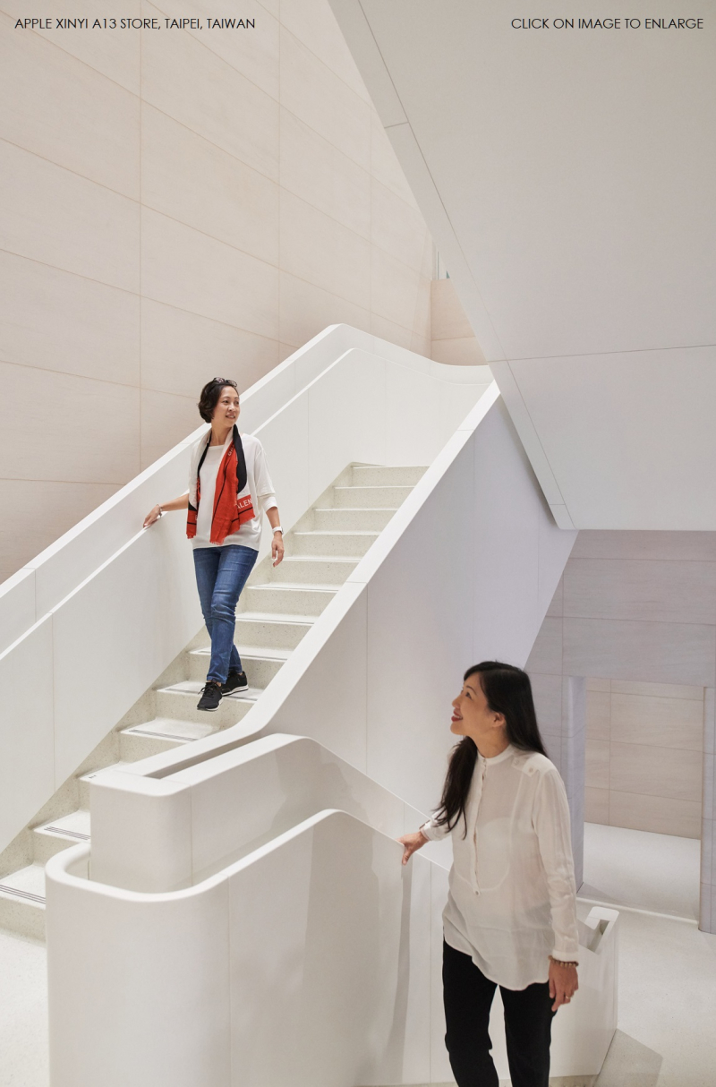 3 new-apple-store-taipei-Taiwan - stairs to lower level