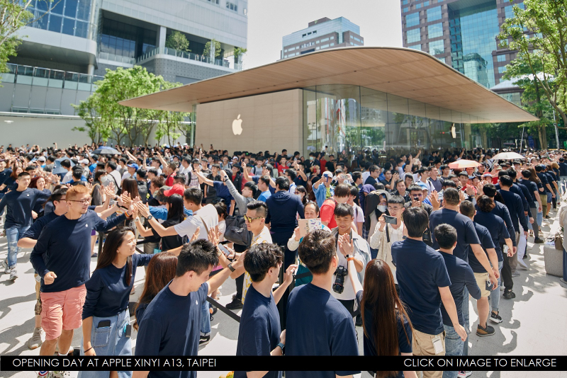 1 Cover Apple Xinyi A13 Outside-Thousands-Customers Taipei  Patently Apple report June 15  2019