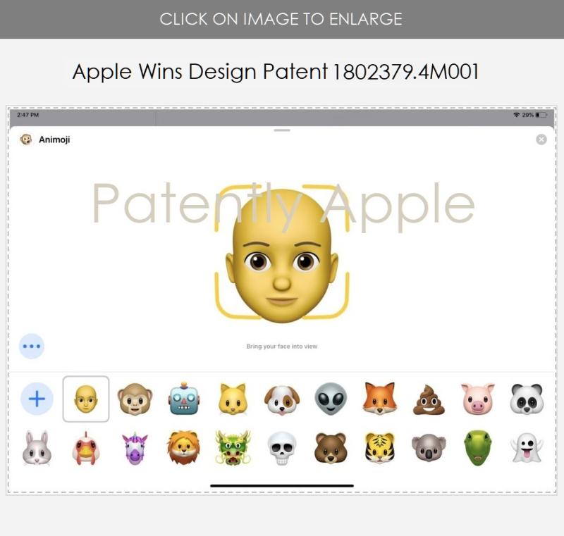 2A XX Animoji Apple wins design patent 4M001 Hong Kong June 14  2019 - Patently Apple IP Report