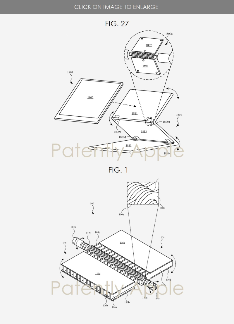 2 Apple displays multi-fold device with hinges