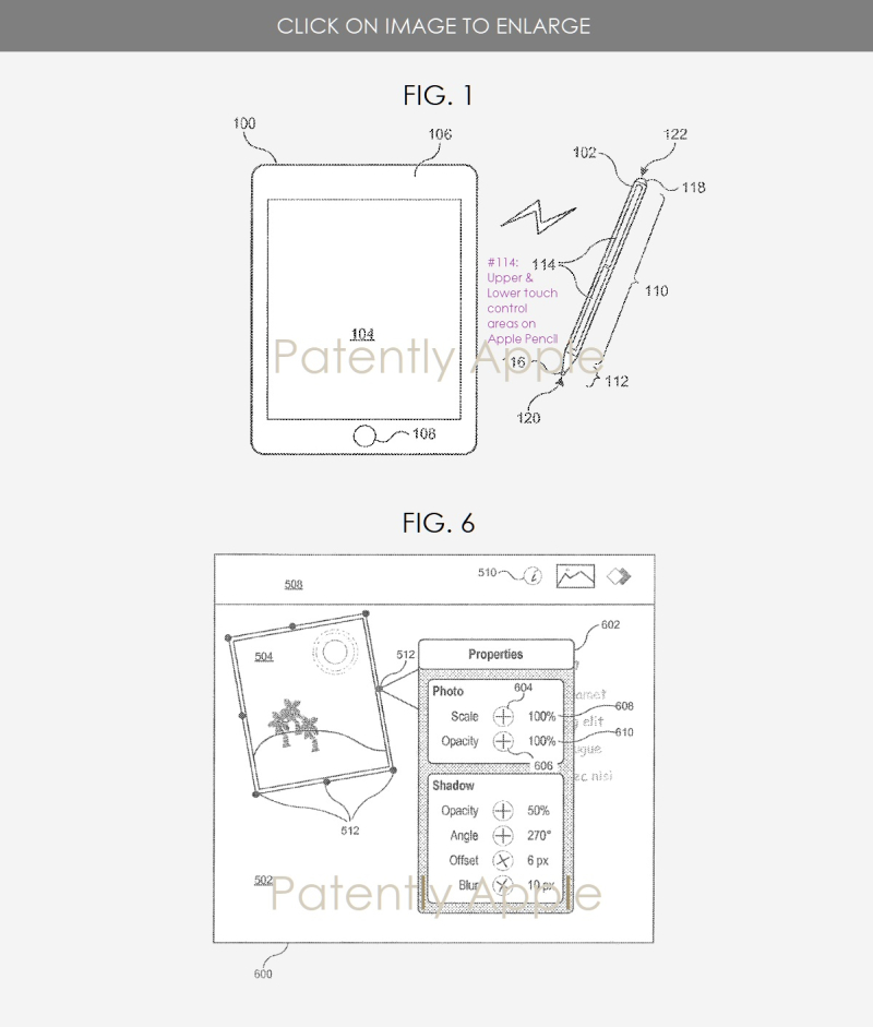 2 Apple Pencil with Touch Controls & Formating UI