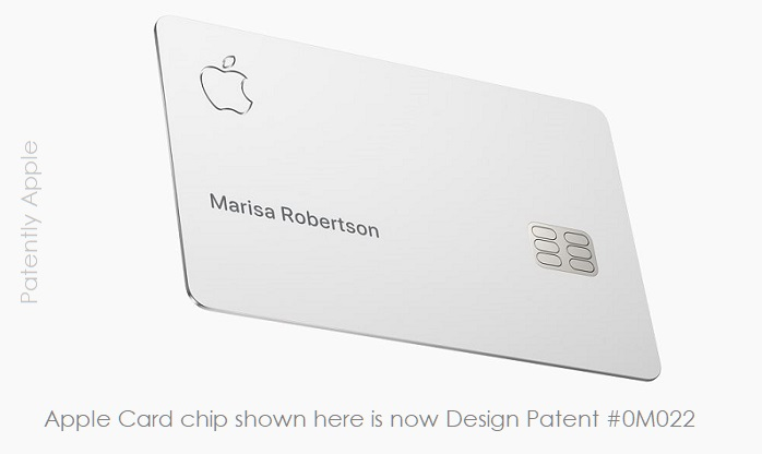 1 X Cover Apple Card with chip design 0M022 illustrated - Patently Apple IP REport