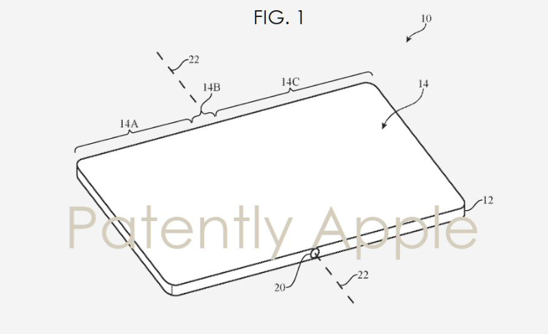 1 X Cover - New Apple  Foldable device patent filing image fig. 1  Patently Apple report feb 28  2019