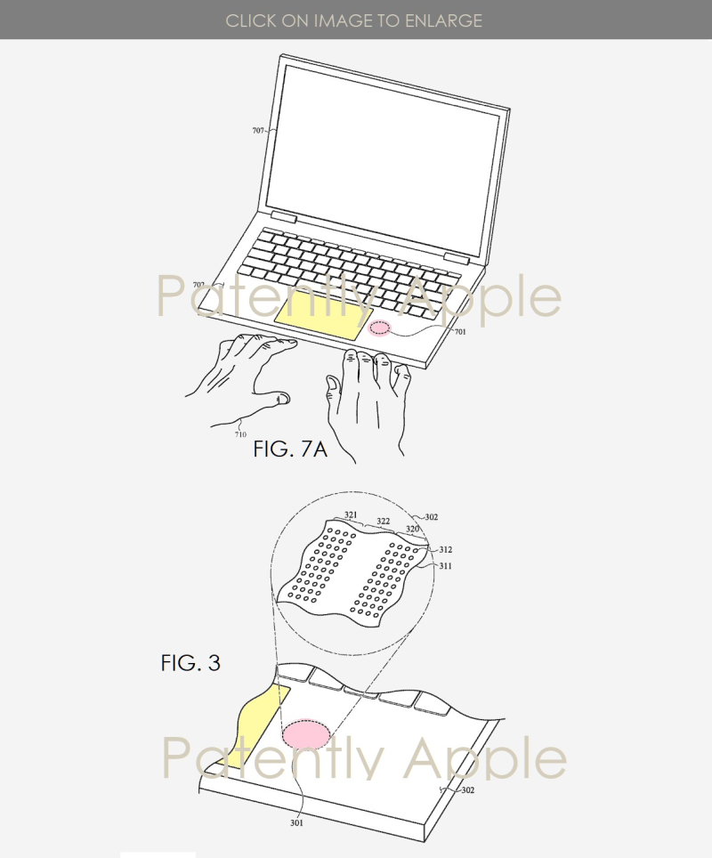 2 X Apple MacBook Bio Sensor Patent application figs 1b  3  Patently Apple IP report mar 7  2019