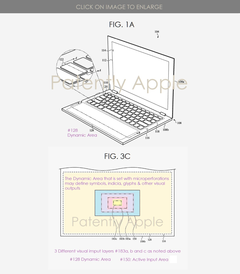 2 Apple patent for an illumination system replacing the traditional Trackpad