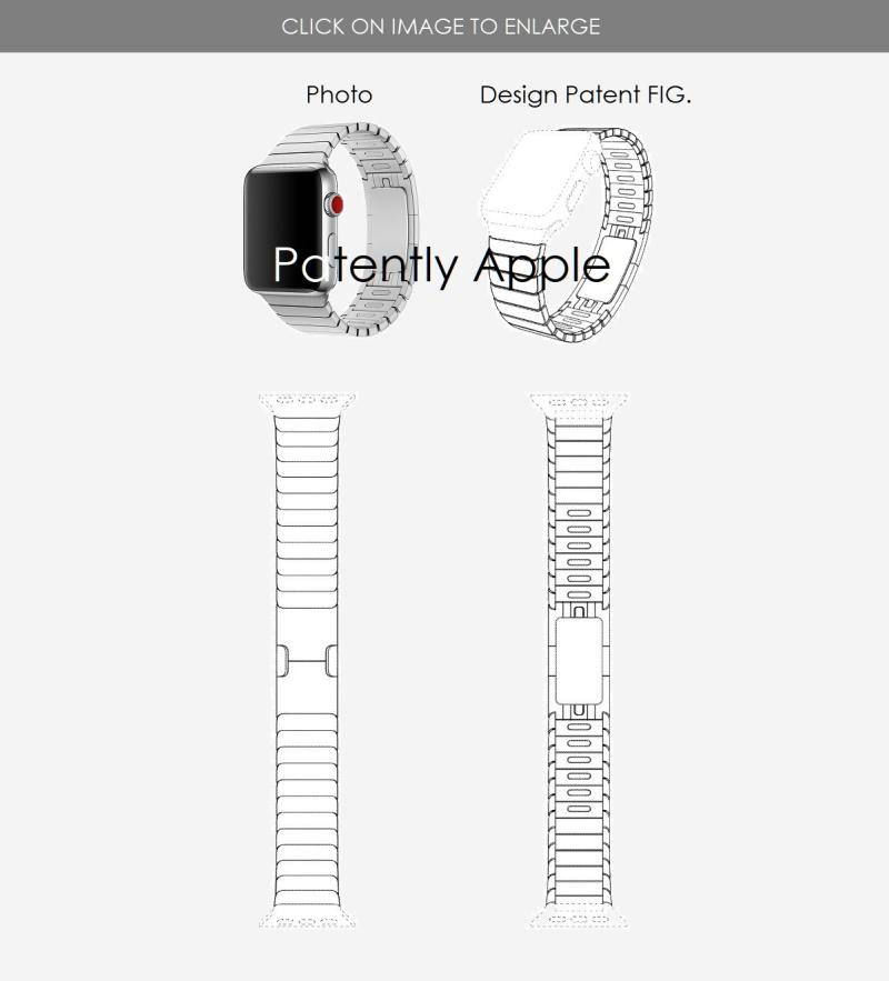 4 design patent for link bracelet apple watch band July 2  2019