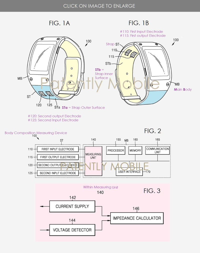 2 X  Samsung - medical device + watch - figs. 1a  1b & 2 - Patently Mobile IP report July 2019