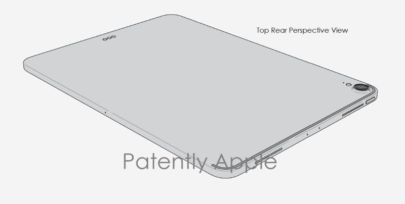 2 iPad Pro design patent 1900086.2M020 bottom Perspective view - Patently Apple IP Report 07-06-2019