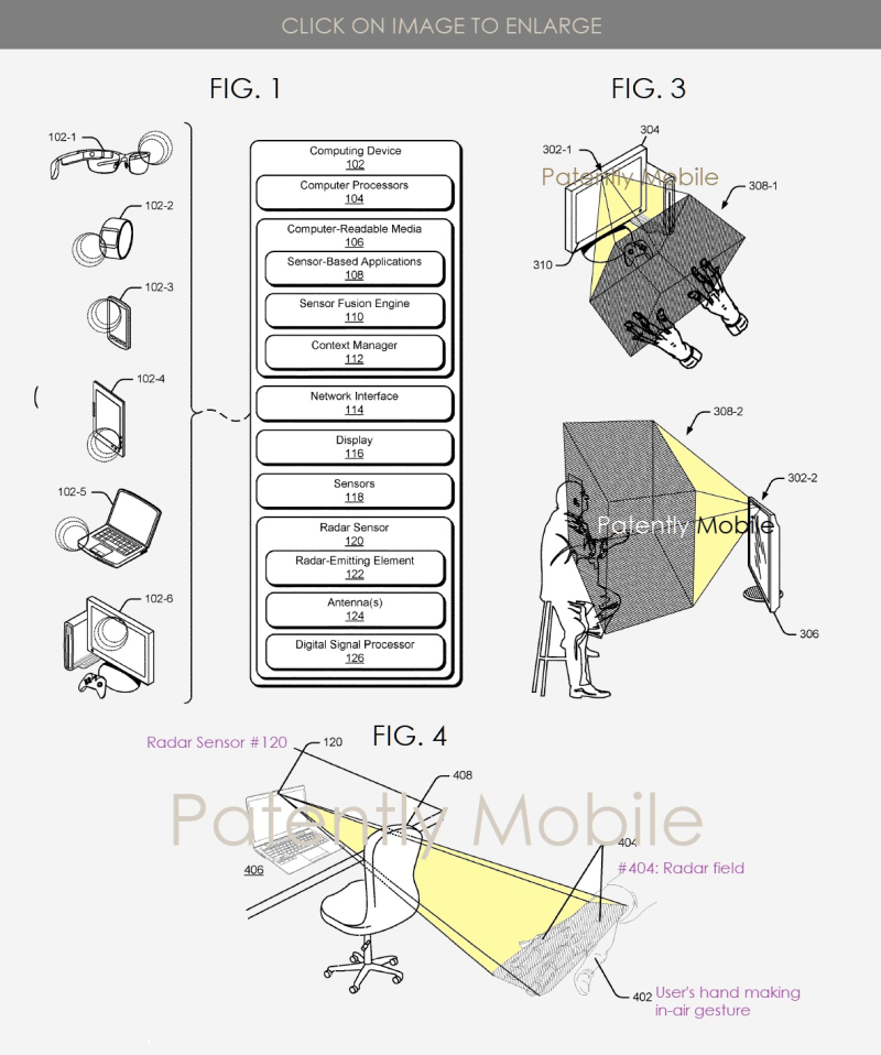 2 X - Google patent Figs 2  3 & 4  radar centric granted patent  Mar 10 2019 IP report from Patently Mobile